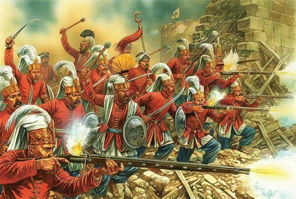 Janissaries. The Battle of Malta 1565