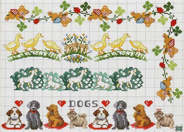 Materiales gráficos Gaby: 9 Plantillas de bordados