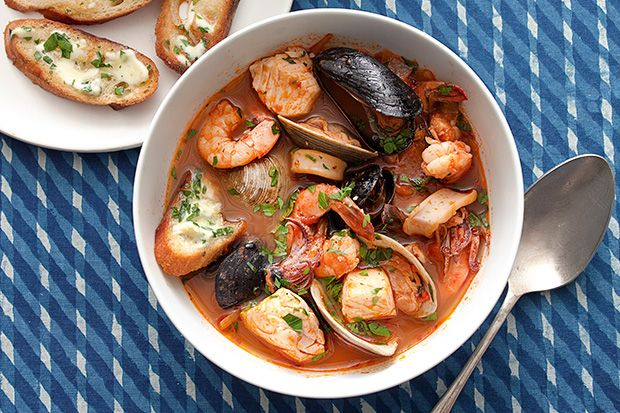 Find the recipe for Cioppino Seafood Stew with Gremolata Toasts and other fish recipes at Epicurious.com