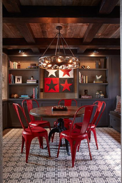 Rustic Dining Room By Artistic Designs For Living, Tineke Triggs. The Red  Industrial Metal Part 76