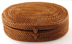 These beautifully-woven baskets are available on Bali in so many variations. They are actually made on the island of Lombok to the east of Bali.