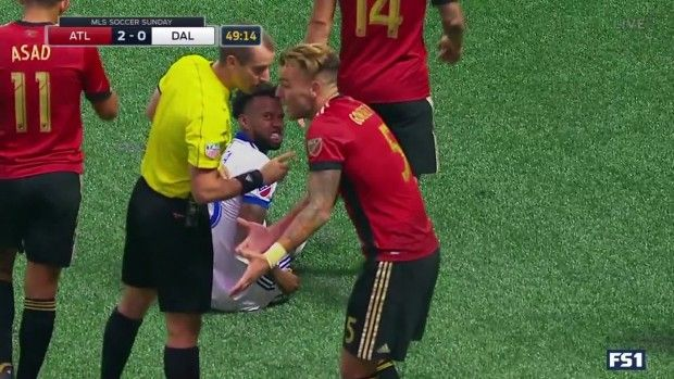 #MLS  YELLOW CARD: Leandro Gonzalez Pirez grabs a yellow card