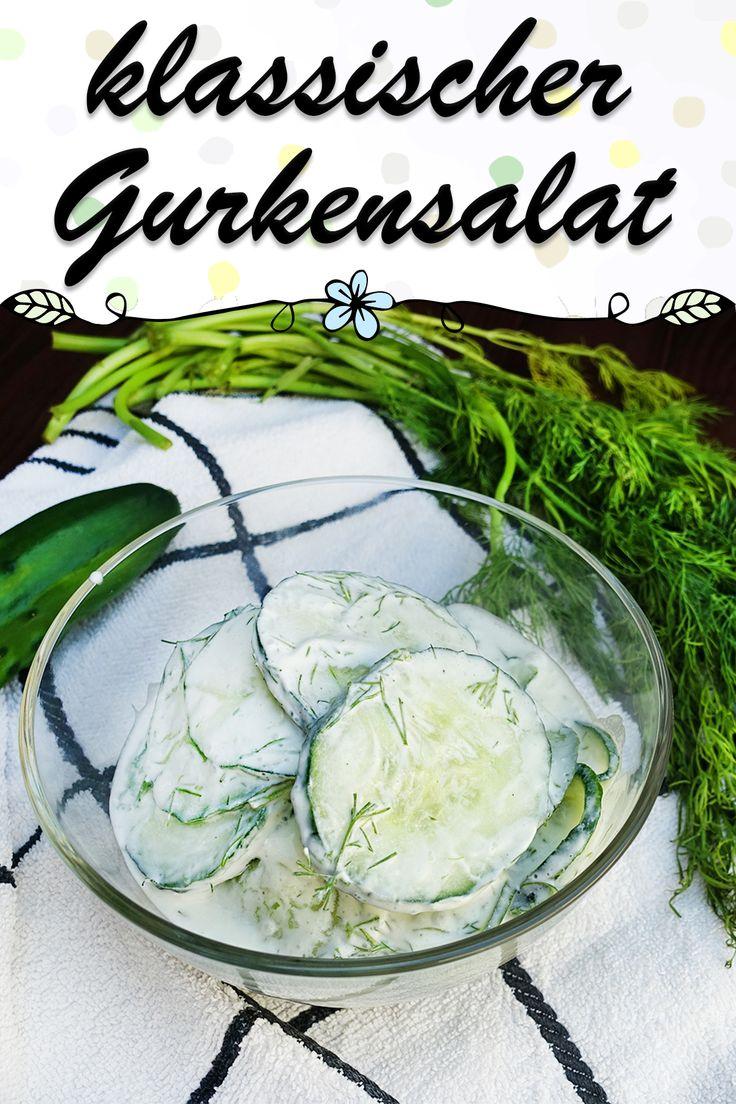 klassischer gurkensalat salat zum grillen einfach und