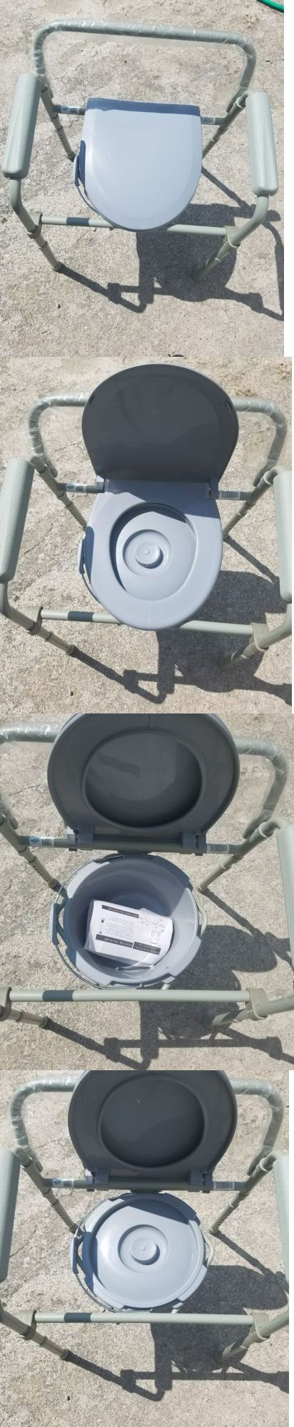 Toilet Frames and Commodes: Bedside Commode Portable Toilet Seat Riser Handicap Bathroom Fold Chair Elderly -> BUY IT NOW ONLY: $43.5 on eBay!