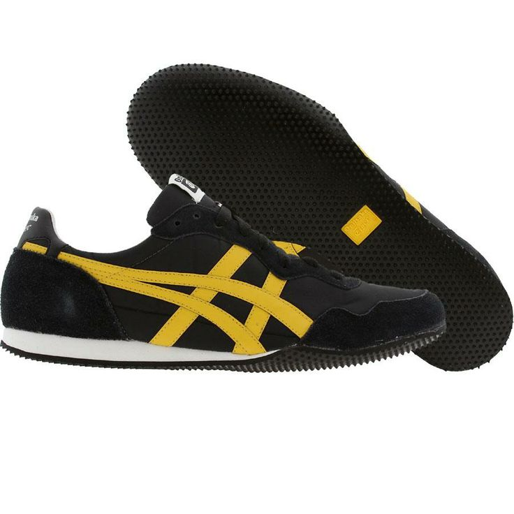 asics black and yellow shoes