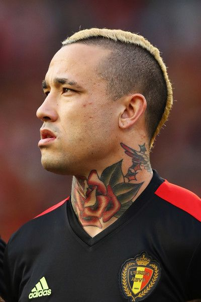 Radja Nainggolan of Belgium stands for the national anthem prior to the International Friendly match between Belgium and Czech Republic at Stade Roi Baudouis on June 5, 2017 in Brussels, Belgium.