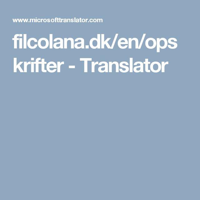 filcolana.dk/en/opskrifter - Translator