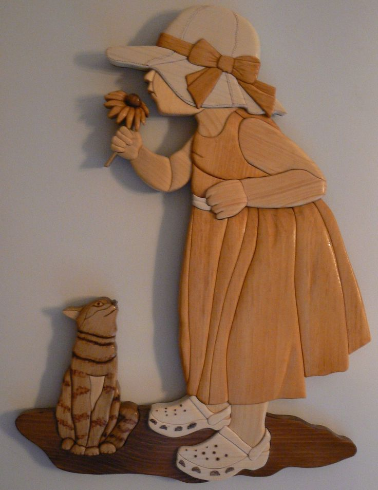 ... and Smell the Flowers   Intarsia   Debbie Weindorf Intarsia Wood Art