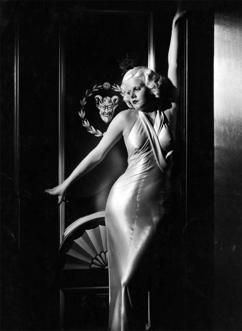 Dinner at Eight - Jean Harlow in Gilbert Adrian evening gown