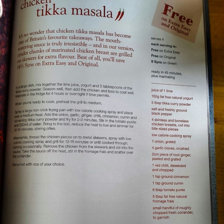 Chicken tikka masala slimming world free