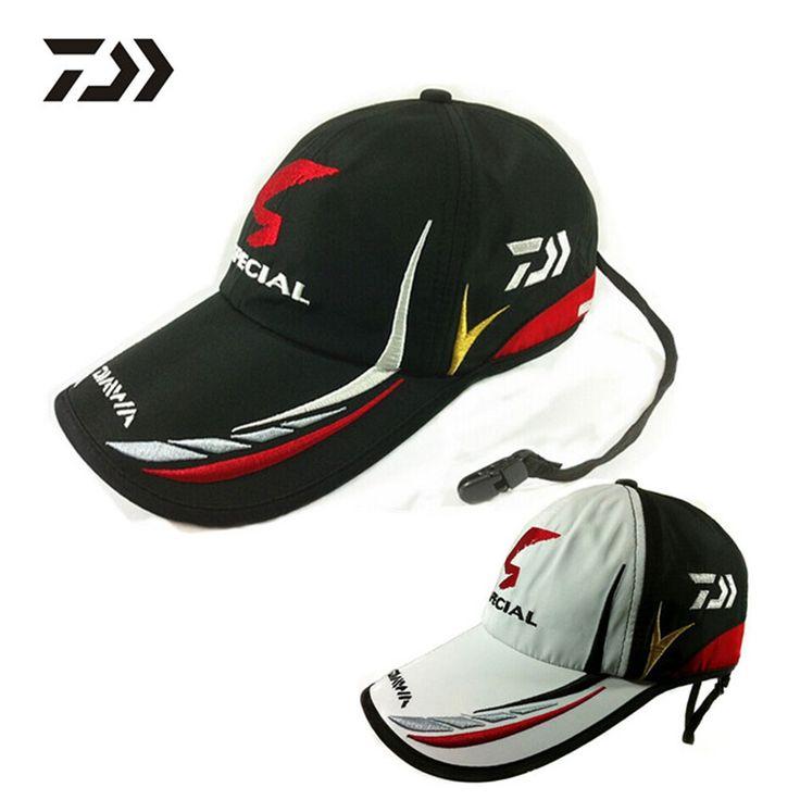 Uomini adulti regolabile traspirante pescatori pesca daiwa giappone ombrellone sport baseball cappello della benna del cappello nero speciale con logo