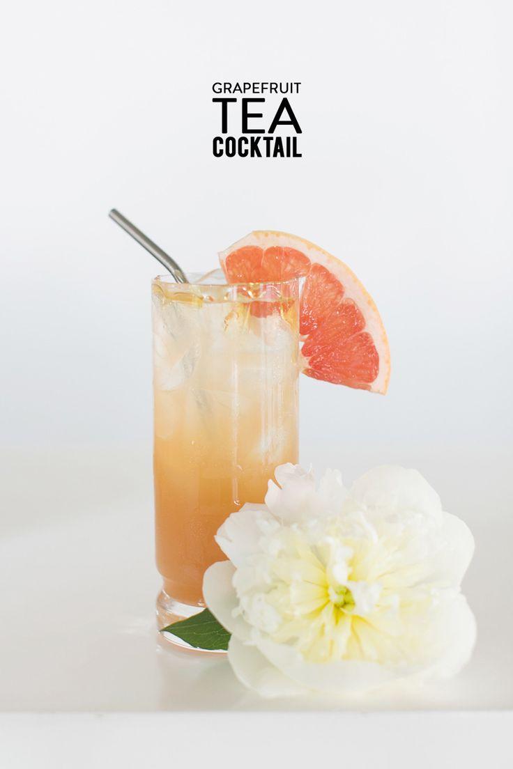 Grapefruit Tea Cocktail #recipe Photography: Charla Storey - www.charlastorey.com  Read More: http://www.stylemepretty.com/living/2014/07/16/orange-fizz-cocktail/