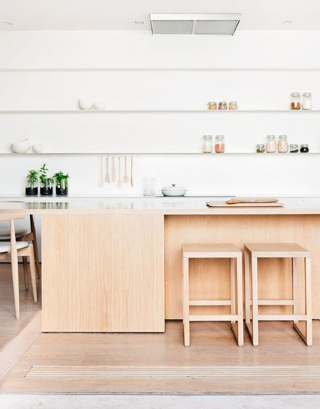 Melbourne office Studio Four used light American oak for the built-in furniture at this home in Victoria