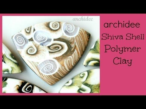 M Polymer Clay Tutorial | Murrina Conchiglia Occhio di Venere | Shiva Shell Cane | ITALIANO