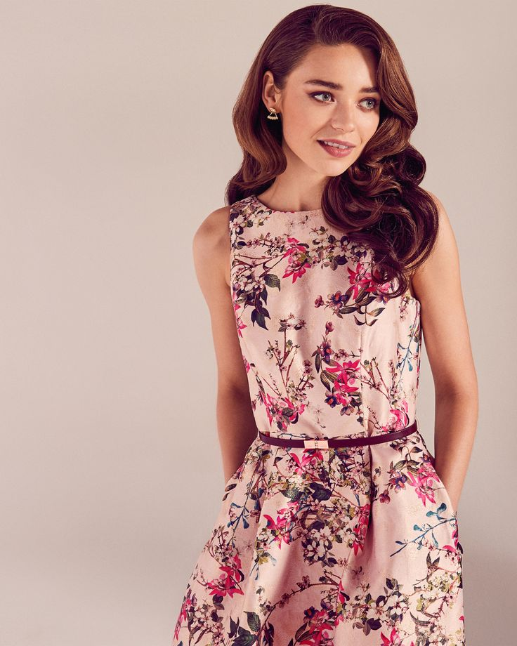Blossom Jacquard full dress - Mid Pink | SS17 Tie The Knot | Ted Baker ROW
