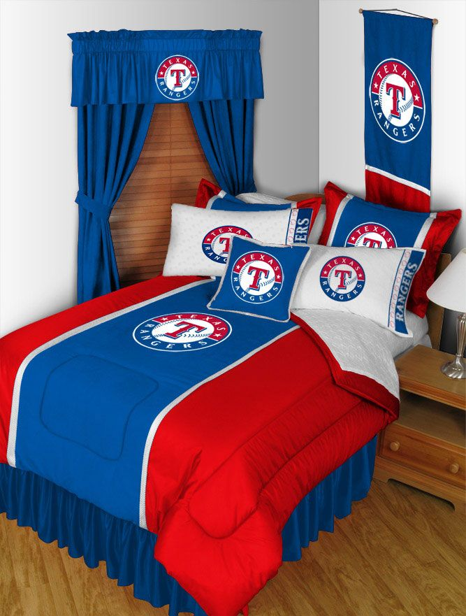 Image of 2 Pack MLB Rangers Pillowcases - Texas Baseball Bed Accessories
