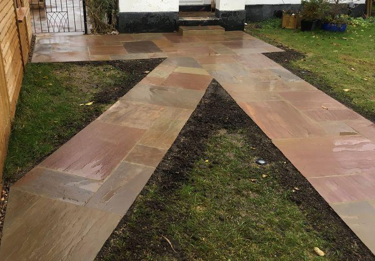 Raj Blend Sandstone Path #paving #path