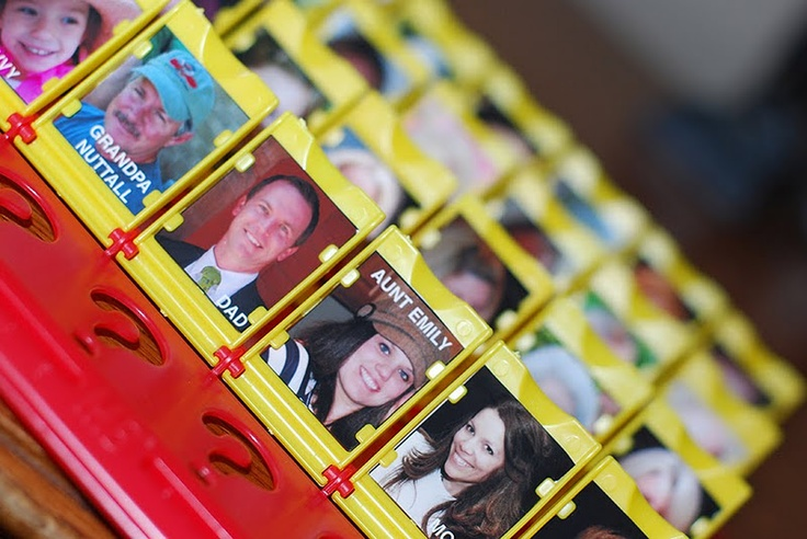 Personalized Guess Who... I wonder if I have the patience for this. This would be fun!