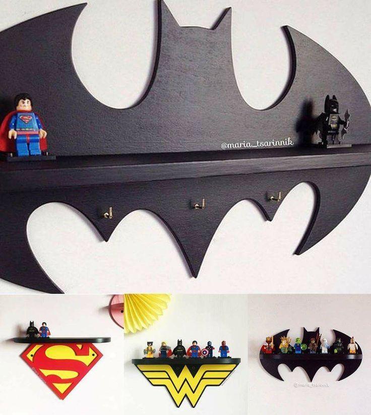 Superhero shelves! #boyroom