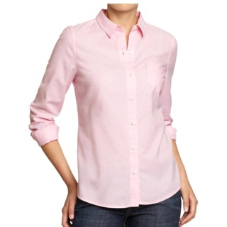 Got 2 oxford shirts today in pink and classic blue.. Loves! I think I'm going to pair with a couple PF Lacoste or Jcrew striped sweaters layered on top this winter..