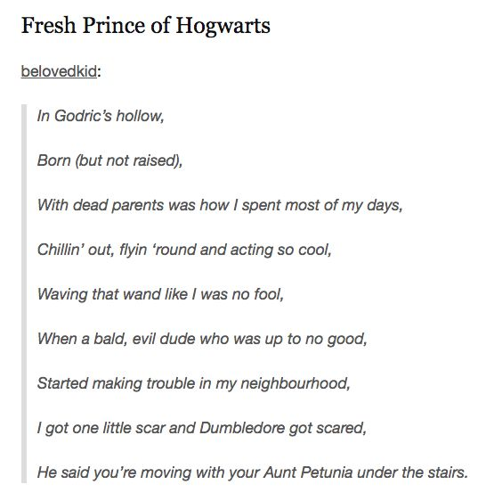 Please Enjoy These Super-Funny Harry Potter Tumblr Posts