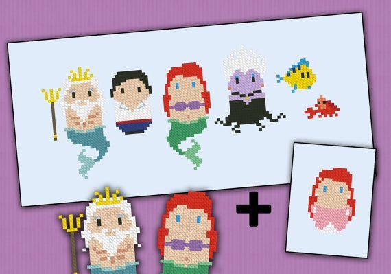 Hey, j'ai trouvé ce super article sur Etsy, chez https://www.etsy.com/fr/listing/154420060/little-mermaid-parody-cross-stitch-pdf