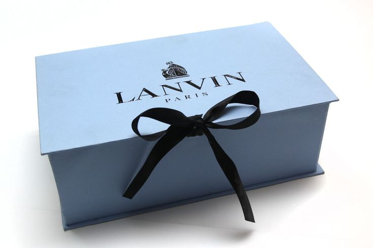 Lanvin Packaging - Shoe Box with Black Logo and Black ...