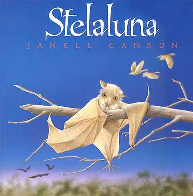 STELALUNA  Janell Cannon  Esta es la bella historia de Stelaluna, una pequeña murciélaga que se ve separada de su madre y es adoptada por una familia de pájaros.  La fraternidad, la integración, las costumbres diferentes, hacen de Stelaluna un libro interesantísimo para tratar el tema de la convivencia y la solidaridad.