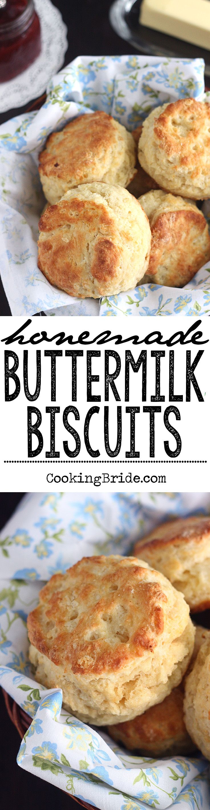 Recipe and tips for making light and fluffy homemade buttermilk biscuits.