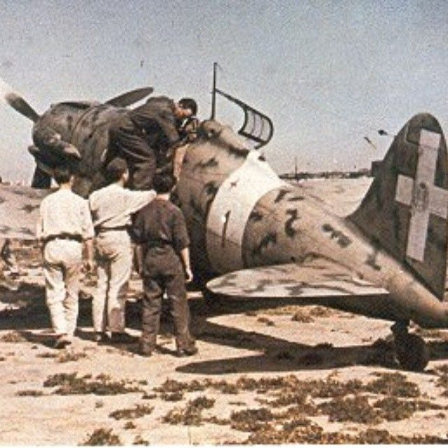 """Macchi 205 """"Veltro""""(greyhound) of the first type.The 205 was an italian ww2 fighter aircraft and pro - italian_front"""