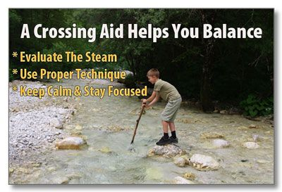 Tips for safely crossing a stream and making sure everyone, even the littlest ones!, make it across.  | www.TheSurvivalMom.com