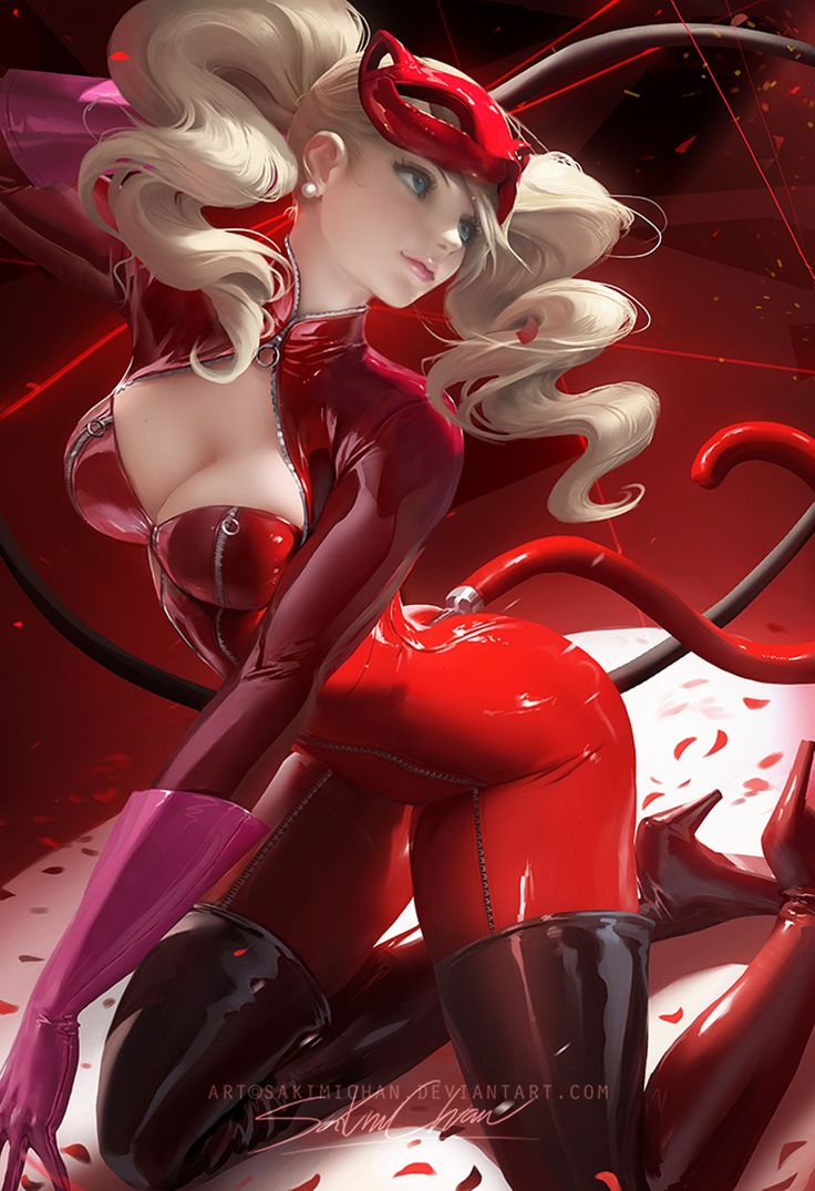 Official Post from Sakimi Chan: Ann from persona5. I'm a big fan of the game series and I have to say persona 5 has to be my favorite out of 3 and 4 *_* wanted to draw something from the game and Ann is one of my favorite character. Her latex outfit was fun to paint :3 ► (This piece is part of term 55 reward sign up from June 18-