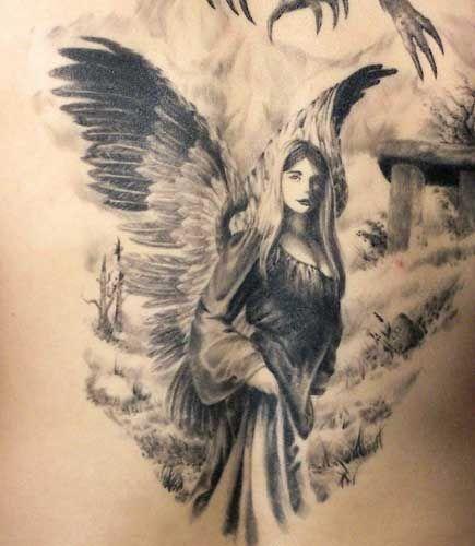 bild engel bild engel pinterest engelchen tattoo ideen und tattoo r cken. Black Bedroom Furniture Sets. Home Design Ideas