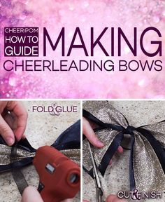 Cheerleading Bows! Ever wondered how easy it is to make a cheerleading bow? Cheer and Pom has the easiesy tutorial for you on how to make customizable bows! They're perfect and cute!