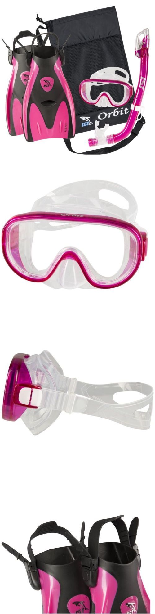 Snorkels and Sets 71162: Ist Orbit Snorkeling Scuba Set | Mask And Fins Gear Bag | Pink | Small (S) -> BUY IT NOW ONLY: $40 on eBay! http://www.deepbluediving.org/tips-safe-ascent-descent/