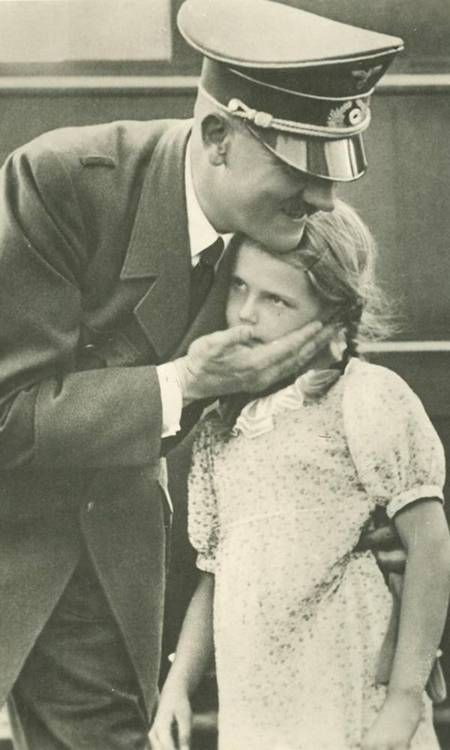 Another creepy photo of Hitler with a child: Twelve-year-old Helga Goebbels, who was killed by her parents in the Berlin bunker as the Nazi empire crumbled.