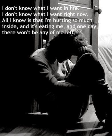 Depression Hurts | Depressing Quotes | DepressingQuotesz.blogspot.com