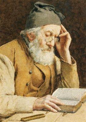 Anker, Albert (1831-1910) Old man reading