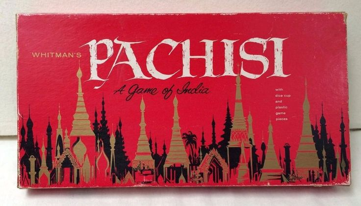 Vintage 1962 Whitmans PACHISI A GAME OF INDIA Parcheesi Board Game Made in USA #WitmanPublishingCompany