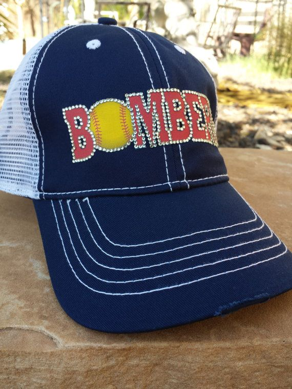 8d0e6bdac98c9 Bombers Softball Mom Hat    FREE SHIPPING    use code BACKTOSCHOOL2015  through end of September by CapsbyKari on Etsy