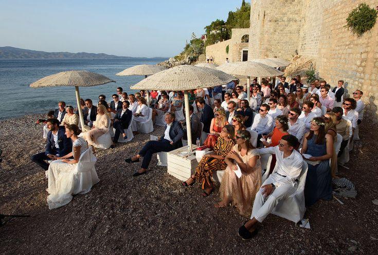 Lucia & Guillaume | Destination Wedding in Greece | Hydra island . Wedding in Castello .#beachwedding #wedding #destinationwedding #weddingphotography #Hydra
