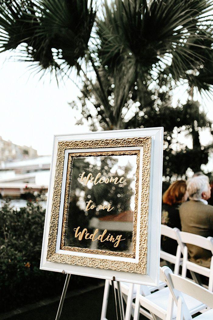 Calligraphy Mirror Wedding Sign