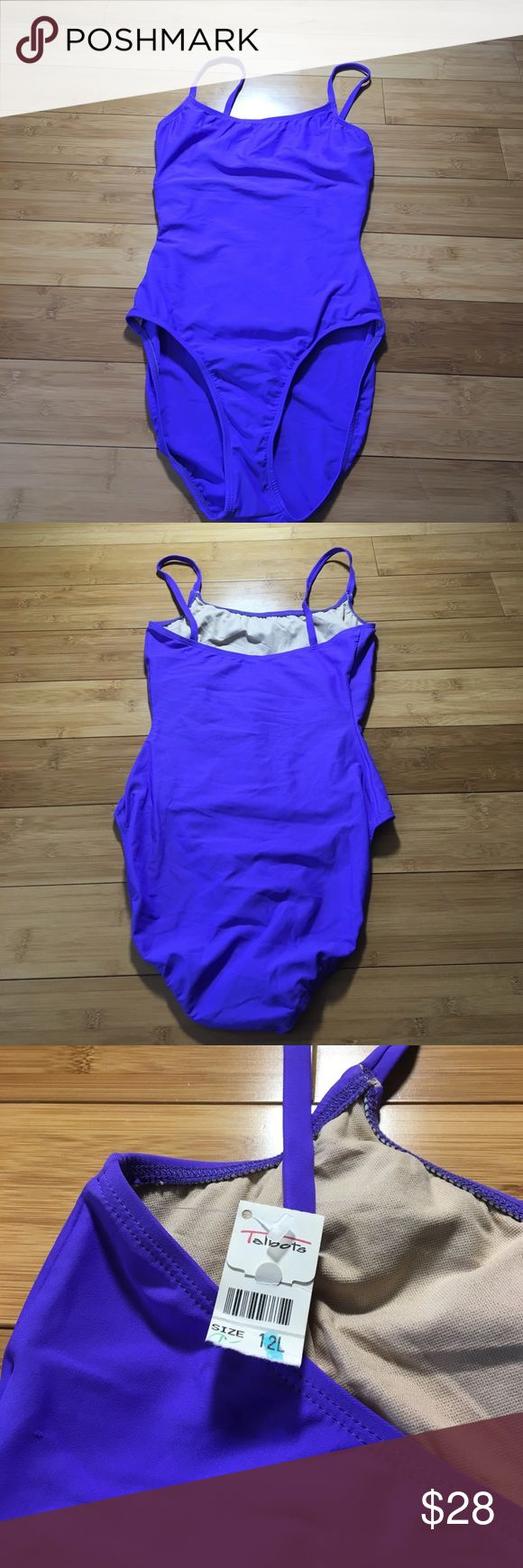 NWT Purple One Piece Bathing Suit Swim Tall 12 L new with tags Talbots swim suit Talbots Swim One Pieces