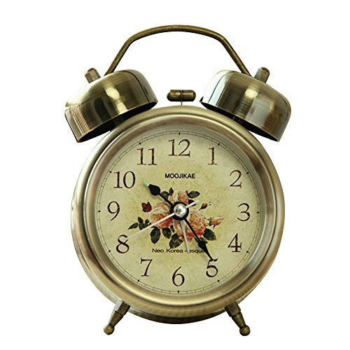 "Kaimao Vintage Style Snooze Alarm Clock 3"" (8cm) Silent Antique Retro Twin Bells Table Clock with Night Light, Luminous Hands and Extremly Loud Bell - L  #Alarm #Antique #Bell #Bells #Clock #Extremly #hands #Kaimao #Light #Loud #Luminous #Night #Retro #RusticGrandfatherClock #Silent #Snooze #Style #Table #Twin #Vintage The Rustic Clock"