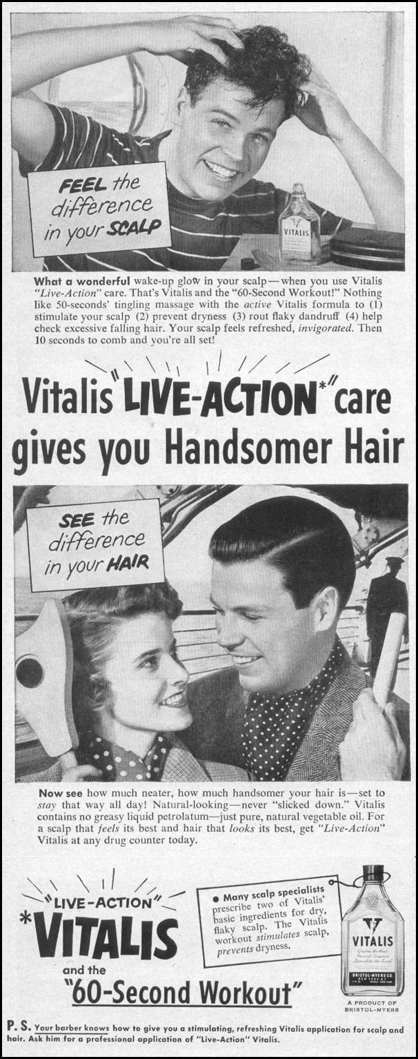 VITALIS HAIR TONIC  LIFE  04/17/1950  p. 36