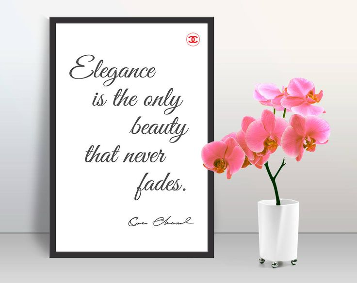 Modern trendy Motivation quotes wall art poster CHANEL glamour home decor pearl paper print cubicle decor minimalist wall art Gift for her by GecleeArtStudio on Etsy