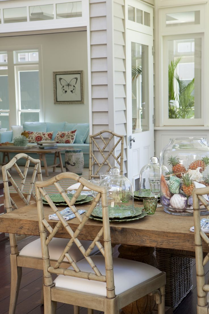 bamboo chairs & table centerpiece