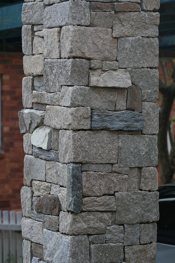 Stone marble granite exterior wall cladding view cladding wall - Home Exterior Stone Pier Stone Wall Stone Cladding Front Entry Carport