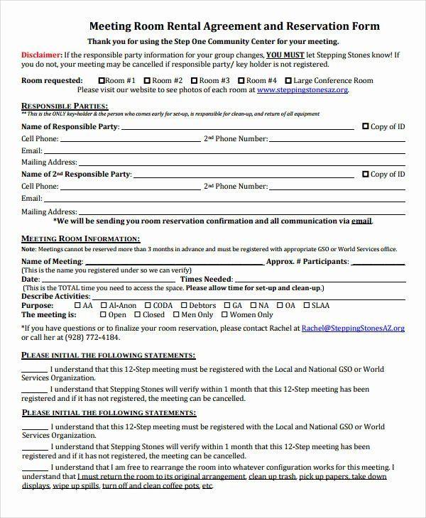 Room Rental Agreement California Free Form Peterainsworth In
