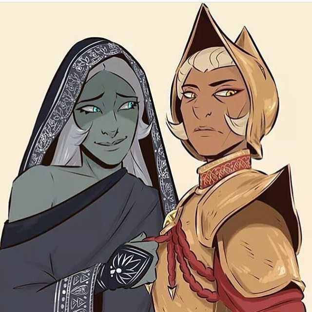 I love this take on bye and yellow diamond . . . Credit/ Romans-art.tumblr - - - - - - - - - - - - - - #stevenuniverse #crystalgems #bluediamond #yellowdiamond